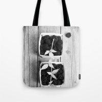 Black And White Blackber… Tote Bag