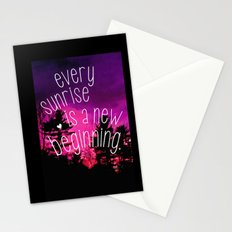 Sunrises are New Beginnings Stationery Cards