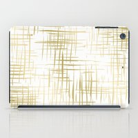 Crosshatch Gold iPad Case