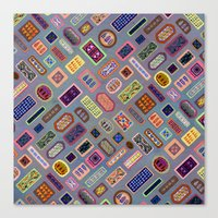 Multi-color Melody Canvas Print