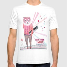 Pink Tiger Mens Fitted Tee SMALL White