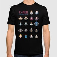 X-MEN BEFORE & AFTER Mens Fitted Tee Black SMALL