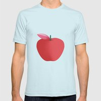 Apple 26 Mens Fitted Tee Light Blue SMALL