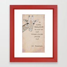 Giraffe for Kelly Framed Art Print