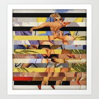 Glitch Pin-Up Redux: Cou… Art Print