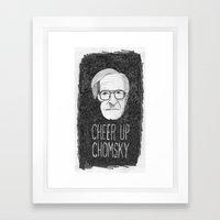 Cheer Up Chomsky Framed Art Print