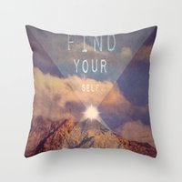 FIND YOUR SELF Throw Pillow