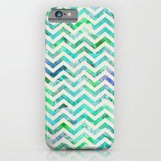 GREEN FLORAL CHEVRON Slim Case iPhone 6s