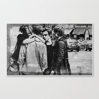 We against the world Canvas Print
