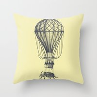 Discovery (grey On Yello… Throw Pillow