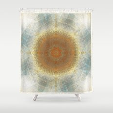 Trendy digital mandala Shower Curtain