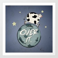 Over It Art Print