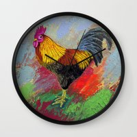 Rooster-3/  Wall Clock