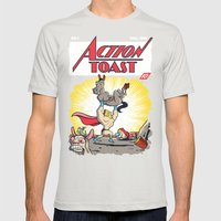 Action Toast Mens Fitted Tee Silver SMALL
