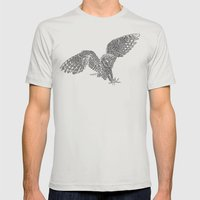 3:33 Owl Mens Fitted Tee Silver SMALL