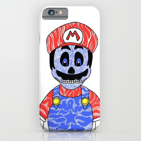 Blue Mario iPhone & iPod Case