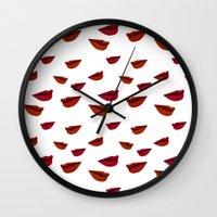 Retro Lips Wall Clock