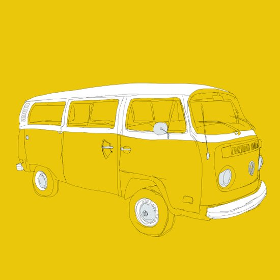 VW T2 Microbus Art Print