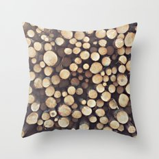If I wood, wood you? Throw Pillow