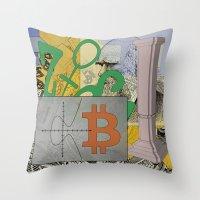 Darwin and the Blockchain Throw Pillow
