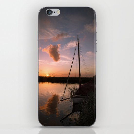 River Thurne Sunset iPhone & iPod Skin
