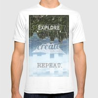 Explore Create Repeat Mens Fitted Tee White SMALL