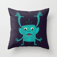 CREATURE N0#4IVI Throw Pillow