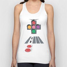 N Street Traffic Light Unisex Tank Top