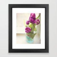 Purple Tulips In A Jar Framed Art Print