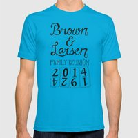 Brown & Larsen Family Reunion 2014 Mens Fitted Tee Teal SMALL