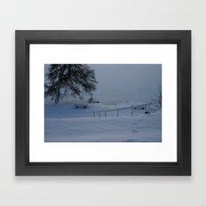 Frozen German Lake Framed Art Print