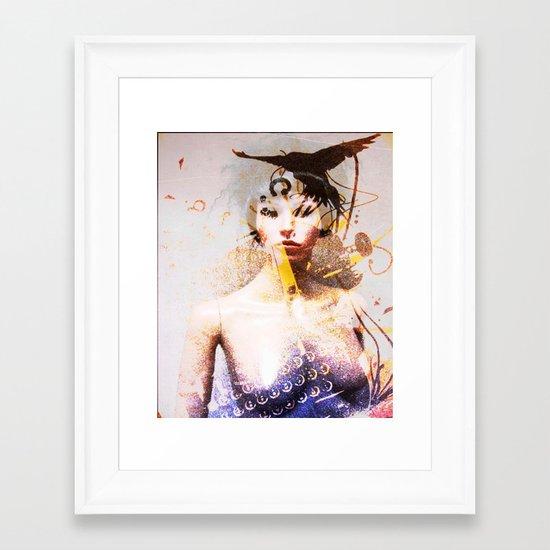 abstract girl Framed Art Print