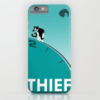 iPhone Cases featuring Thief by scratchmedia