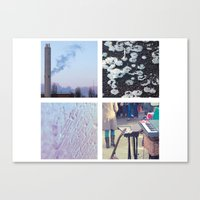 Squares #1: Berlin / Win… Canvas Print