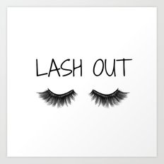 Lash Out Art Print