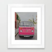 Hot Pink Lady Framed Art Print