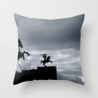 Warriors of time Throw Pillow