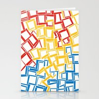 Rectangles In Primary Co… Stationery Cards