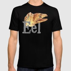 E is for Eel Mens Fitted Tee SMALL Black