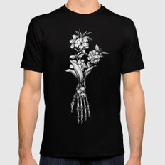 In Bloom #01 Mens Fitted Tee Black SMALL
