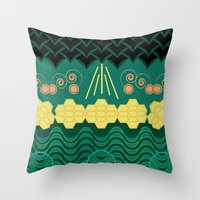 HARMONY pattern Throw Pillow