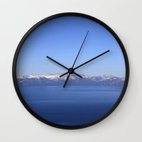 Mt Rose and Slide Mt Wall Clock