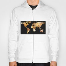 World Map Silhouette - Sausage Pizza Hoody