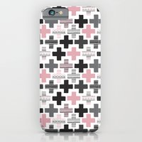 Geometric cross illustration plus sign pattern iPhone 6 Slim Case