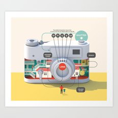 Imaginary Factory - camera Art Print