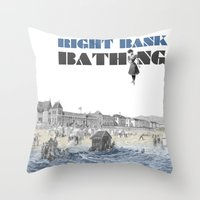 Right bank bathing Throw Pillow