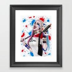 Harley Quinn Fanart Framed Art Print