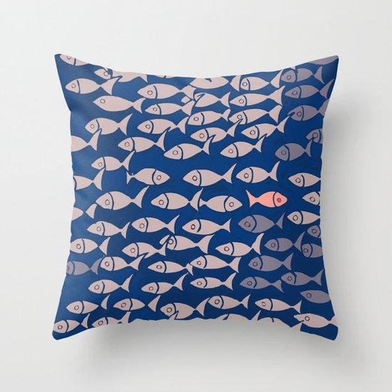 something fishy II Throw Pillow