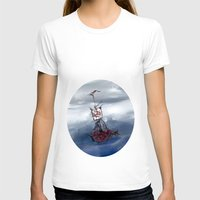 Ship in the fog Womens Fitted Tee White SMALL