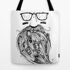 Beard Me Some Music (Black & White) Tote Bag